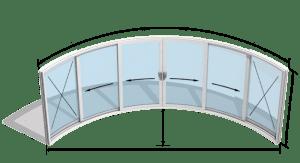 ساختار درب شیشه منحنی