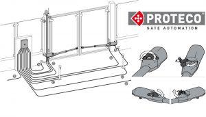 درب برقی پارکینگی پروتکو ACE   راهنمای نصب تعمیر جک برقی پروتکو proteco ایس