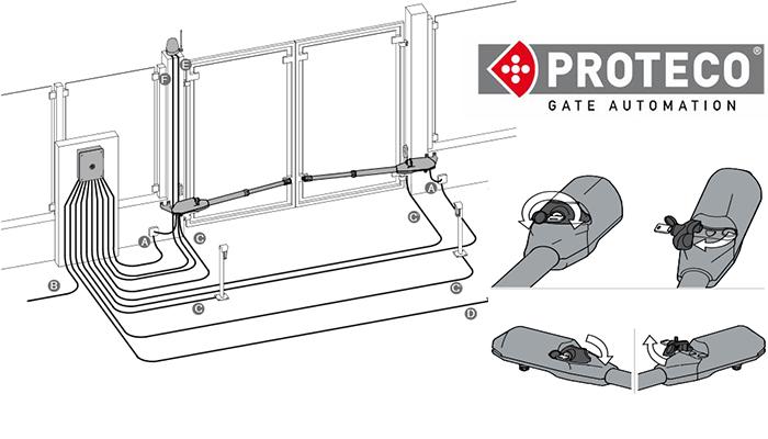 درب برقی پارکینگی پروتکو ACE | راهنمای نصب تعمیر جک برقی پروتکو proteco ایس