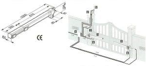 امکانات و مکانیزم کاری جک برقی پارکینگی فک Faac: