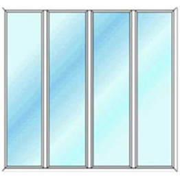 پنجره چهار لنگه ثابت بدون بازشو