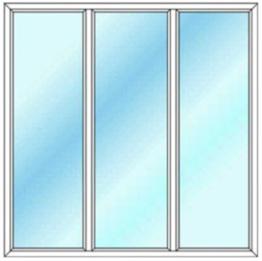 پنجره سه لت ثابت