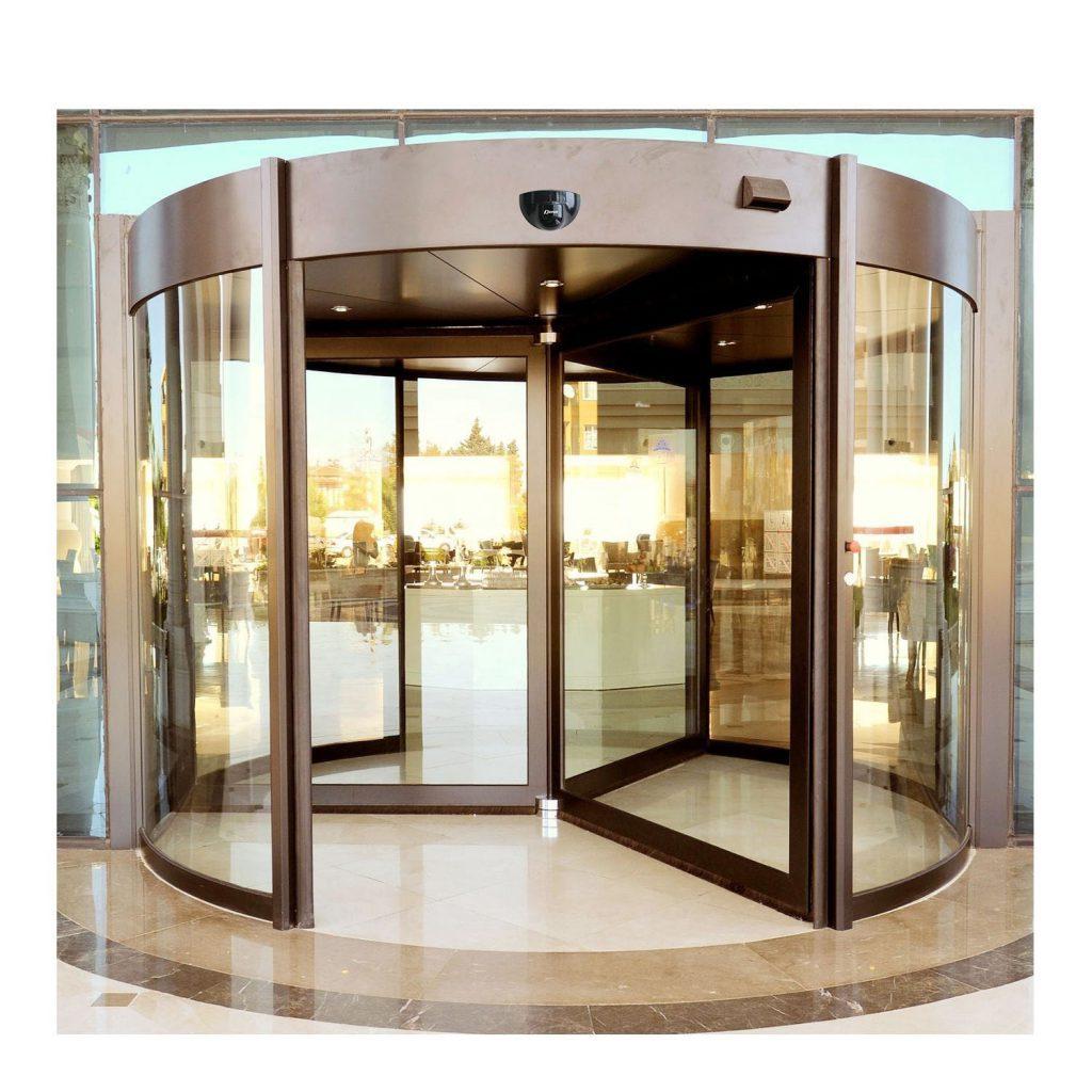 درب شیشه گردان بانک
