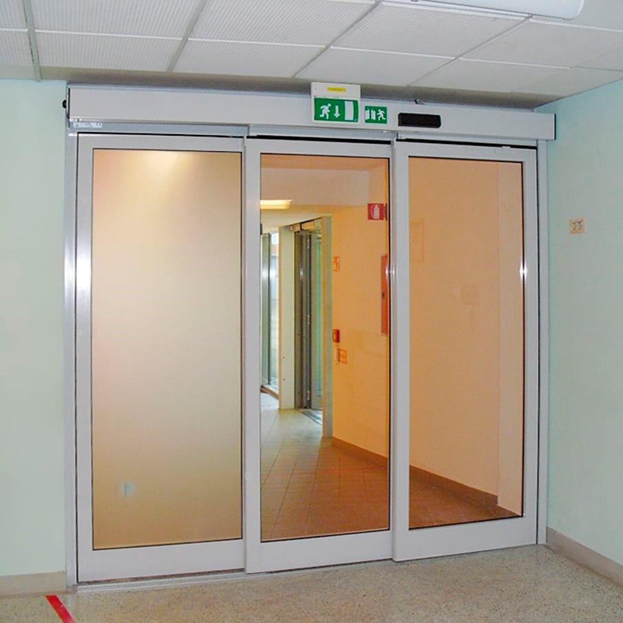 درب شیشه تلسکوپی بیمارستان
